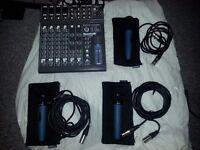 Soundlab powered mixer Model G742BB 2x120W