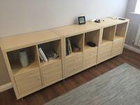 Four Kallax Shelving units for sale