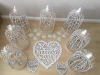 Wedding centrepieces bird cages