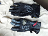Mens Dainese Leather and Kevlar Motorcycle Gloves Size L
