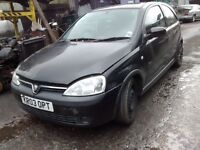 2003 Vauxhall Corsa 1.2 16v SXi 3dr sapphire black 20r 2hu BREAKING FOR SPARES