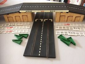 Scalextric track and extras.
