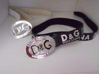 2 x D&G Dolce Gabbana ladies womans belts