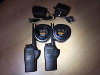 Motorola GP340 VHF Two-Way Radios/Walkie Talkies w/Batteries and Chargers