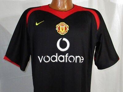 Nike Cristiano Ronaldo 7 Soccer Jersey Manchester United Black Football Shirt Lg