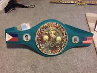 WBC diamond title boxing belt