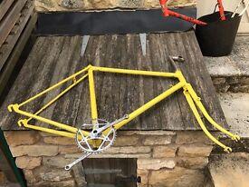 vintage bike frameset (frame, forks, crankset, steam and seatpost) ideal for fixie bicycle project