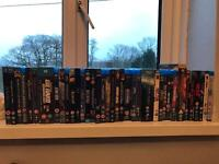 PlayStation 3 and collection of blue