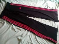 Addidas fitness gym trouser size 10
