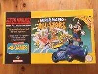 Super Nintendo SNES Super Mario All-Stars Console BOXED