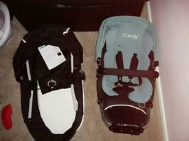 Icandy apple carrycot, seat unit and accessories