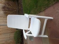 For Sale - Set of 2 plastic garden chairs - £40 - Excellent condition