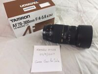 Tamron 70 - 300 mm Lens (fits Canon)