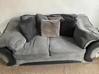 Grey 3 Seater