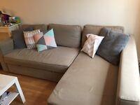 Large beige Corner sofabed