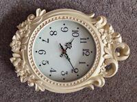 Laura Ashley cream wall clock - brand new