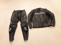 Alpinestars GP Plus jacket, Euro 54 & Alpinestars Apex trousers Euro 52 (black)