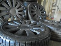 18inch rs8 alloys wheels vw golf bora beetle tt audi a3 5x100/112 a3 a4 caddy t4 t3