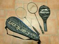 Free - 2 badminton racquets and cases