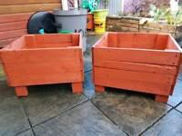 Rustic planters x2