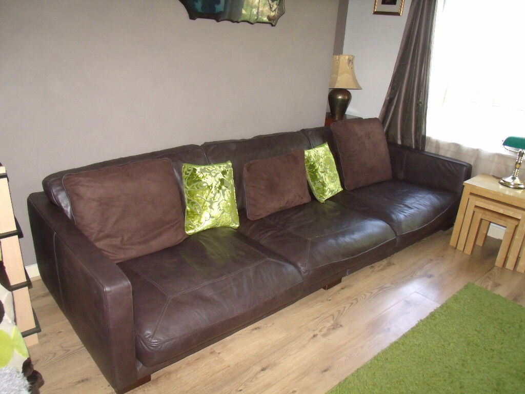 Astonishing 10 Foot Long Dark Brown Sofa For Sale Sits Low To Ground In Dundee Gumtree Pabps2019 Chair Design Images Pabps2019Com