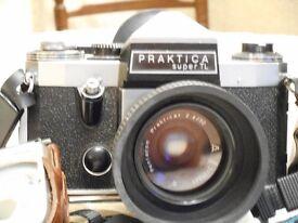 PRAKTICA SUPER TL 35 mm CAMERA, LENSES & ACCESSORIES.