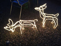 2 x LED light up raindeers Outdoor Christmas Decorations