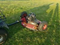 Quad atv logic trm120 grass paddock topper mower farm livestock tractor