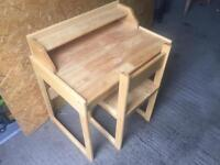 Young kids writing desk and chair