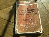 Lister engine parts book