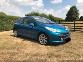 2008 PEUGEOT 207 GT HDI 1.6 IN BLUE PAN ROOF NICE SPEC LOW MILES VGC