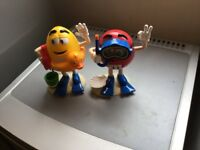 M&M's candy dispensers (2 rare collectibles)