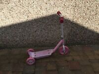 Kids scooter and table