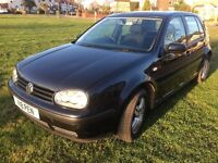 VW GOLF 1.6 AUTOMATIC FULL MOT PRIVATE NUMBER PLATE