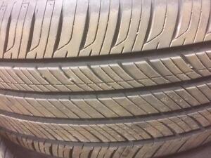 4 pneus d'été Hankook, Kinerge Gt, 215/55/16, 10% d'usure, mesure 9/32.