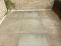Six 1x1m garden tiles - sand colour