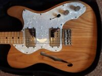 Fender Classic 72 Telecaster Thinline Natural Made in Mexico + Bag + Strap RRP £969