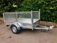 Car trailer 7x4 single axle fully welded Dale kane trailer