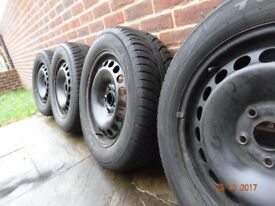 metal trims and winter tires 205/60/r16 audi a6