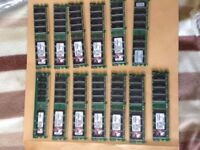 15 x 512mb sticks of Kingston DDR2 memory full size modules £10 the lot
