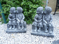 boy and girl kissing garden ornament £15