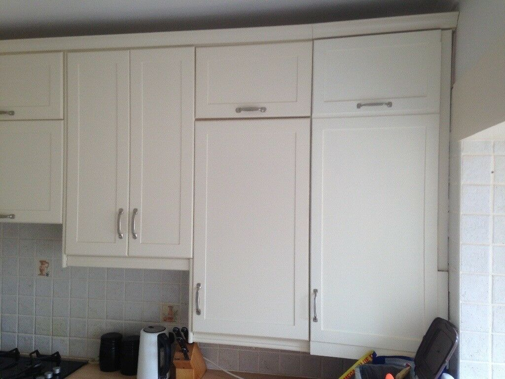 Kitchen wall and floor cabinets including glazed wall units | in ...
