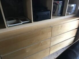 Malm 6 drawer chest of drawers