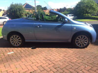 "Nissan micra cc essenza limited edition convertible 2006 ""06"" Metallic blue panoramic glass roof"