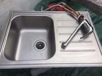 Stainless steel kitchen sink and mixer tap £45 free delivery