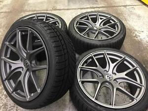 """18"""" Volkswagen Gun Metal Wheels 5x112 & Winter Tires 225/40R18 (Volkswagen Cars) Calgary Alberta Preview"""