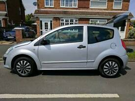 Citroen C2 cachet 43k 3dr silver low tax/low insurance