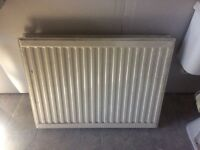 Central Heating radiators, 7 off, good condition, valves and brackets