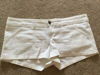 Abercrombie & Fitch White Shorts UK size 12-14