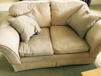 Laura Ashley two seater sofa in pale golden colour